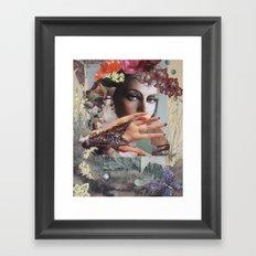 Orchids and Butterflies Framed Art Print