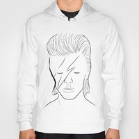 bowie Hoodies featuring Bowie by Luster