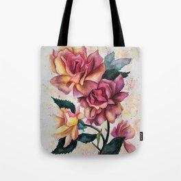 Fresh Tea Roses Tote Bag