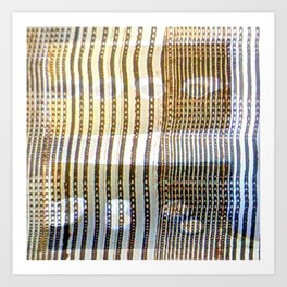 Combed Texture II Art Print