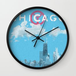 Chicago - Light blue Wall Clock