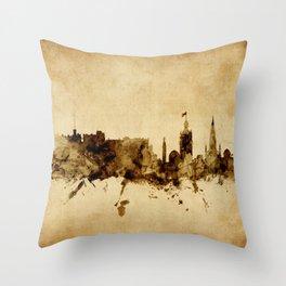 Edinburgh Scotland Skyline Throw Pillow
