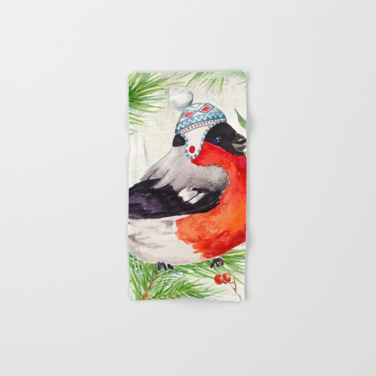 Winter animal #2 Hand & Bath Towel