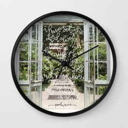Always Before Me  |  Psalm 16:8-9 Wall Clock