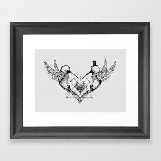 'Humming Birds' Framed Art Print