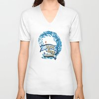 finding nemo V-neck T-shirts featuring just keep swimming.. finding nemo by studiomarshallarts