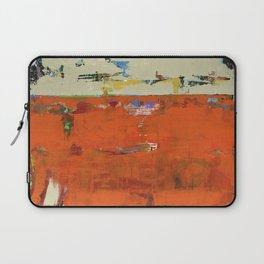 Roadrunner Bright Orange Abstract Colorful Art Painting Laptop Sleeve