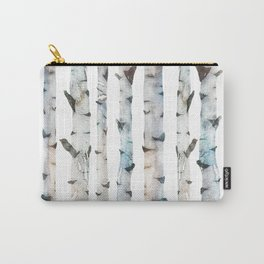 Birch tree Pattern Carry-All Pouch