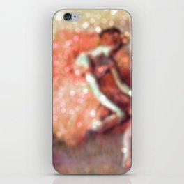The Dancer by Edgar Degas Peach Bokeh Sparkle iPhone Skin