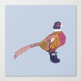 Pheasant & Wellingtons - Beautiful Print Canvas Print