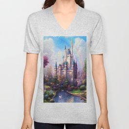 FAIRY FANTASY CASTLE Unisex V-Neck