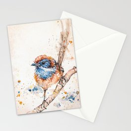 Lickity Split Mallee Emuwren Stationery Cards
