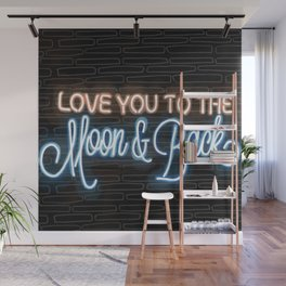 Love you to the moon and back Wall Mural