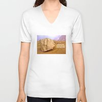 30 rock V-neck T-shirts featuring THE ROCK by Bruce Stanfield