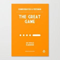 BBC Sherlock The Great Game Minimalist Poster Canvas Print