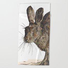 Hare II Beach Towel