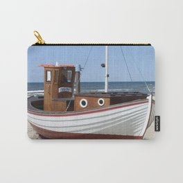 Wooden fishing boat on the beach. Carry-All Pouch