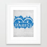 marine Framed Art Prints featuring Marine by rKrovs