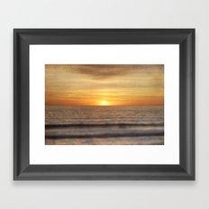 California Sunset Over Ocean Framed Art Print