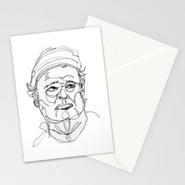 bill murray's one liners (black) Stationery Cards