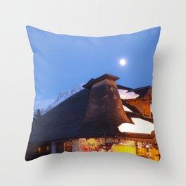 Alp Chalet Throw Pillow