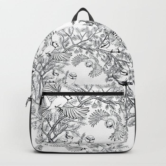 Birds tree botanical pattern Backpack
