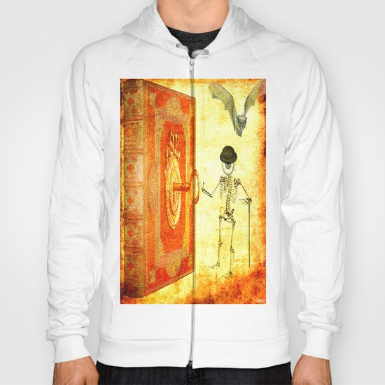 Monsieur Bone and the magic book Hoody