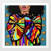 big poppa Art Prints featuring Big Poppa by Hannah  Aryee