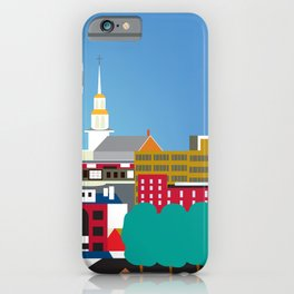 Burlington, Vermont - Skyline Illustration by Loose Petals iPhone Case