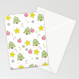 Kawaii Christmas Stationery Cards