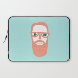 Carry your love in your beard Laptop Sleeve