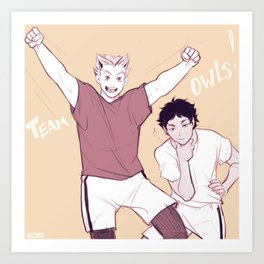 team owls! Art Print