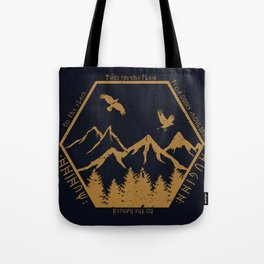 Two ravens flew Tote Bag