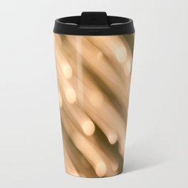 Golden Bokeh Travel Mug