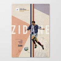 zidane Canvas Prints featuring #10 Zidane by Filippo Maniscalco