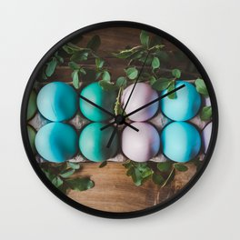 Easter Eggs 27 Wall Clock