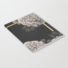 Flowers on a winter night Notebook