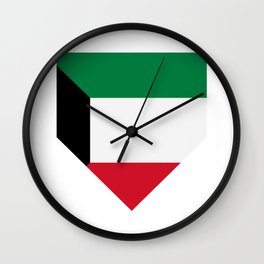 Kuwait flag Wall Clock