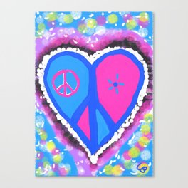 Peaceful heart Canvas Print