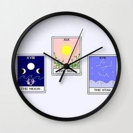 Trio of Tarot Wall Clock