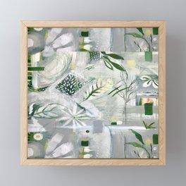 green_pattern Framed Mini Art Print