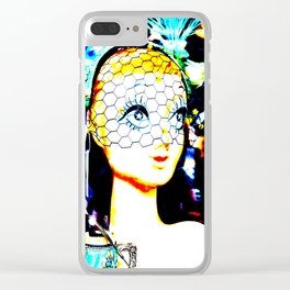 Glamour Girl Clear iPhone Case