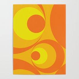 Crazy Orange Circles Poster
