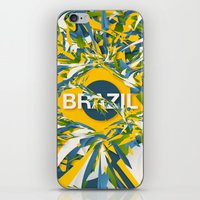 brazil iPhone & iPod Skins featuring Abstract Brazil by Danny Ivan