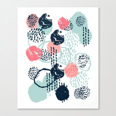 Mellie - abstract minimal modern art print painted boho hipster gender neutral canvas art Canvas Print