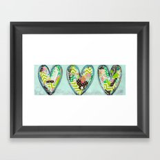 Do small things with great love. Framed Art Print