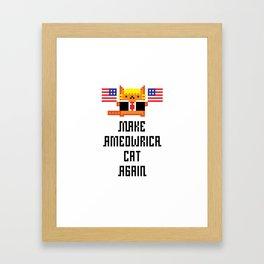 Make Ameowrica Cat Again Framed Art Print