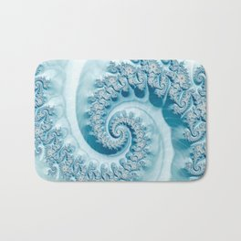 Blue Ammonite Bath Mat