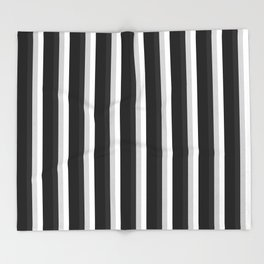 STRIPES Black Gray & White Ombre Throw Blanket
