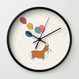 HAPPY NEW YEAR CORGI Wall Clock